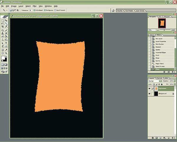 Как сделать лист в фотошопе черным