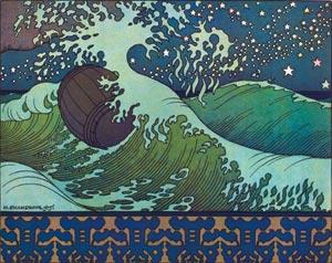 Картинка к сказке о рыбаке и рыбке