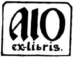 А.П.Остроумова-Лебедева. Экслибрис «Моя эпитафия». Ксилография, 1946