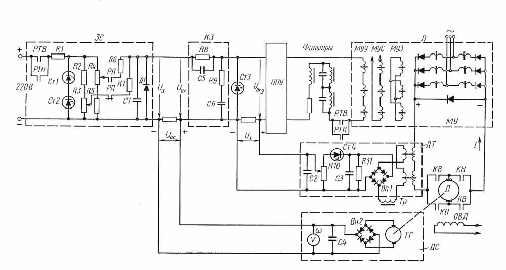 схема электропривода по