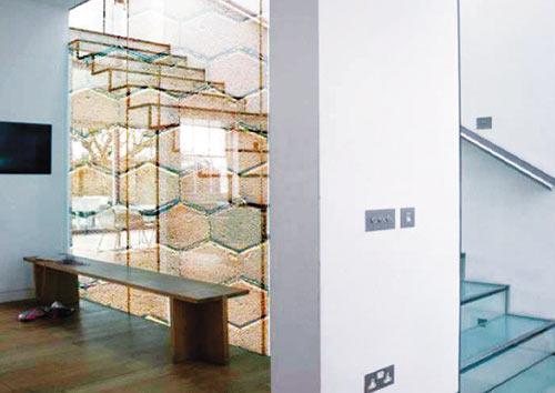Лестничная панель с имитацией каменной кладки