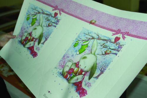 В новом году россияне будут дарить подарки друг другу в калужских пакетах сизображением зайца. Печатный лист