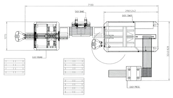Схема линии Tecnograf TOWER+