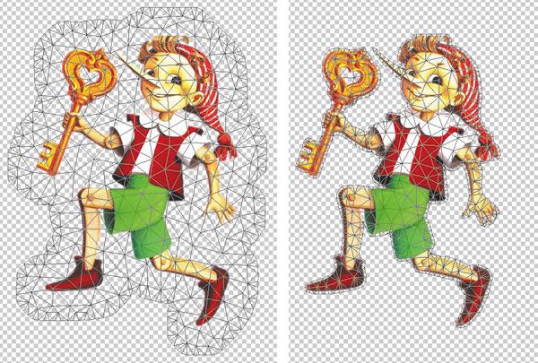Рис. 11. Примеры отображения сетки с различной величиной ее области покрытия