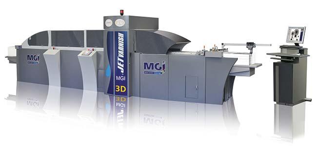 Машина для лакирования, которую MGI называет следующим поколением,—