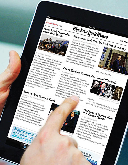 Газета The New York Times на iPad