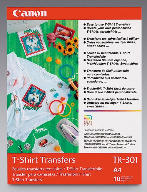 Рис. 1. Упаковка носителей Canon T-Shirt Transfer (TR-301) для термопереноса изображений на ткань