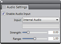 Рис. 4. Плавающая палитра Audio Settings