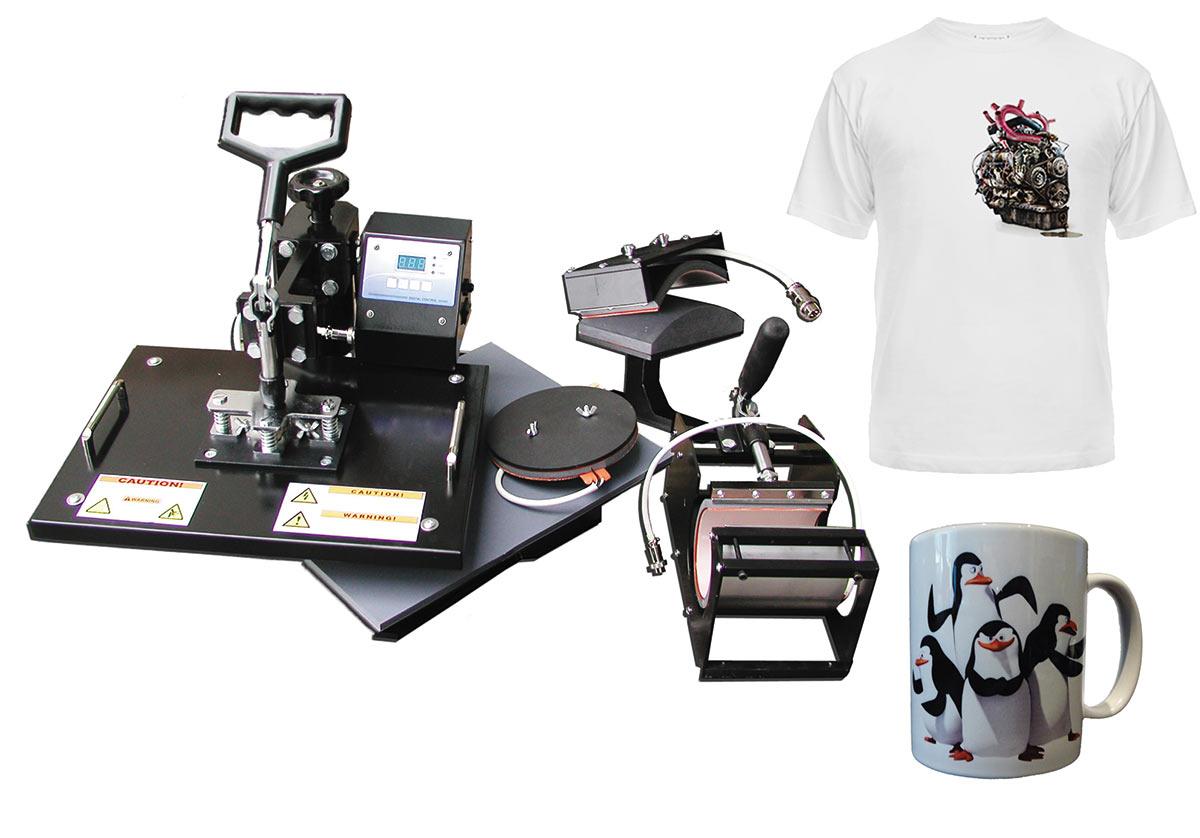 Термопрессы для печати на футболках, бейсболках и кружках