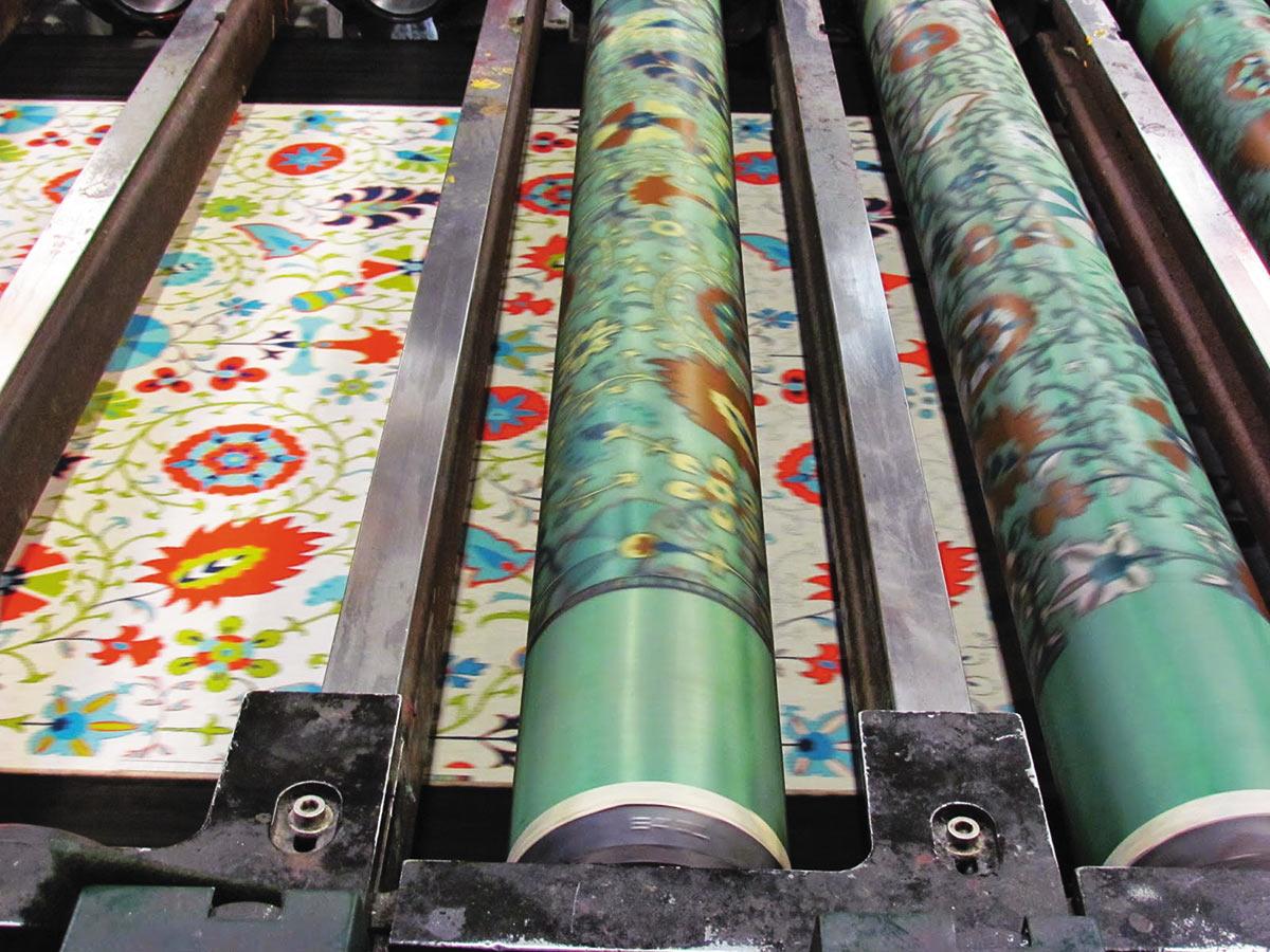 Ротационная печать сетчатыми шаблонами
